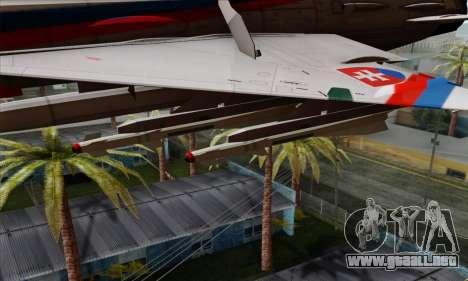 MIG-21MF Slovak Air Force SLP para la visión correcta GTA San Andreas