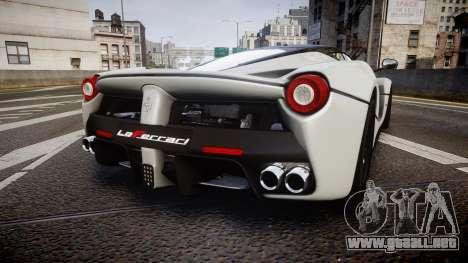 Ferrari LaFerrari 2013 HQ [EPM] para GTA 4 Vista posterior izquierda