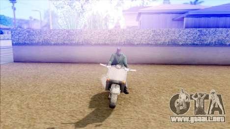 Piaggio Vespa para GTA San Andreas vista posterior izquierda