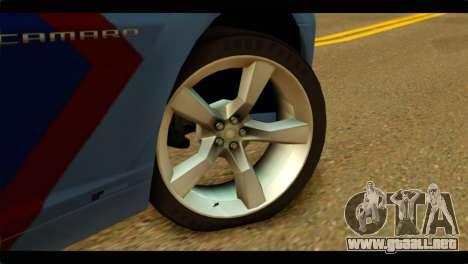 Chevrolet Camaro Indonesia Police para GTA San Andreas vista posterior izquierda