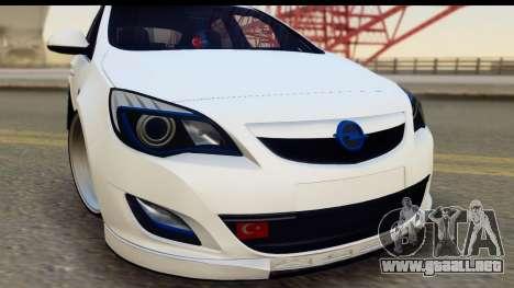 Opel Astra J para GTA San Andreas vista posterior izquierda