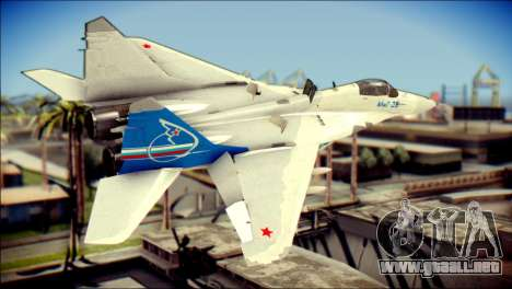 MIG-29 Fulcrum Reskin para GTA San Andreas left