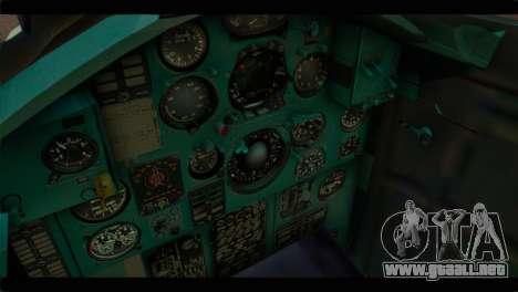 MIG-31 Pirat Squadron para la visión correcta GTA San Andreas