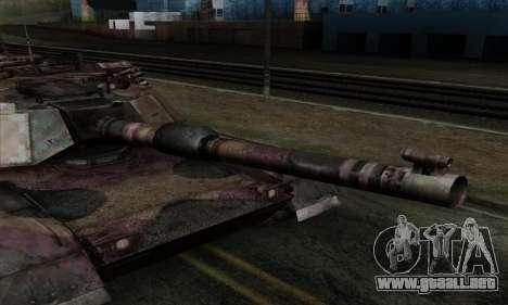 M1A2 Abrams Autumn Camo para GTA San Andreas vista posterior izquierda