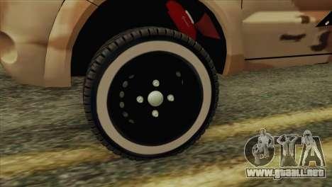 Toyota Hilux Siria Rebels para GTA San Andreas vista posterior izquierda