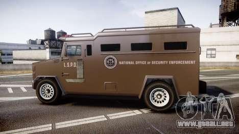 GTA V Brute Police Riot [ELS] skin 1 para GTA 4 left