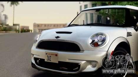 Mini Cooper Clubman 2011 para GTA San Andreas vista posterior izquierda
