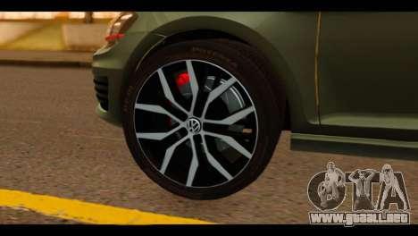 Volkswagen Golf Mk7 2014 para GTA San Andreas vista posterior izquierda