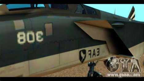 MIG-31 Pirat Squadron para GTA San Andreas vista hacia atrás