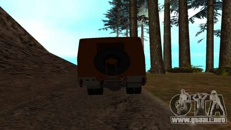Roman Bus Edition para GTA San Andreas vista hacia atrás