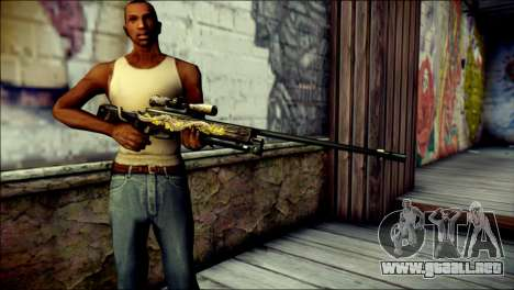 AWM Infernal Dragon CrossFire para GTA San Andreas tercera pantalla