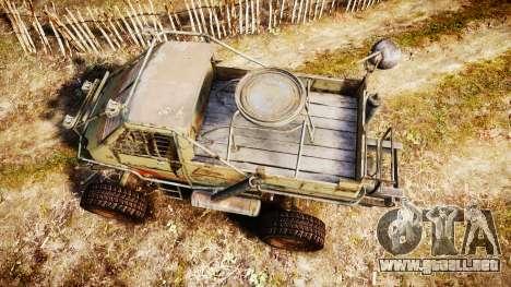 Militar camión blindado para GTA 4 visión correcta