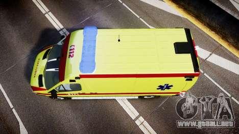 Mercedes-Benz Sprinter 311 cdi Belgian Ambulance para GTA 4 visión correcta