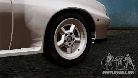 Opel Manta 400 v2 para GTA San Andreas vista posterior izquierda