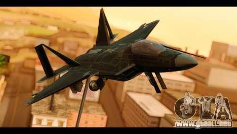 F-22 Raptor Flash para GTA San Andreas vista hacia atrás