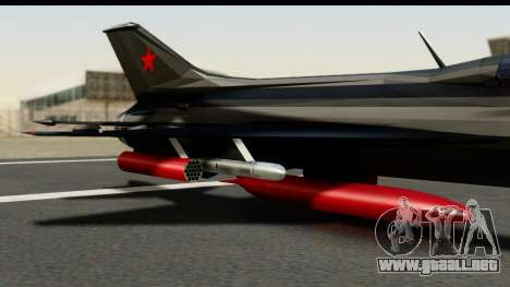 MIG-21F Fishbed B URSS Custom para la visión correcta GTA San Andreas