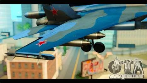 SU-34 Fullback Russian Air Force Camo Blue para la visión correcta GTA San Andreas