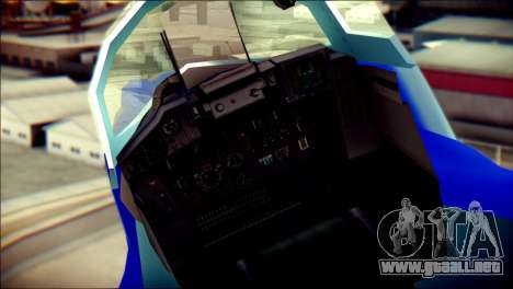 Mikoyan-Gurevich MIG-29K para GTA San Andreas vista hacia atrás