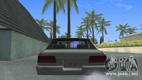 Premier Coupe para GTA San Andreas vista posterior izquierda