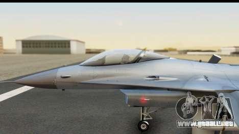 F-16C Polish Air Force Tigers para la visión correcta GTA San Andreas