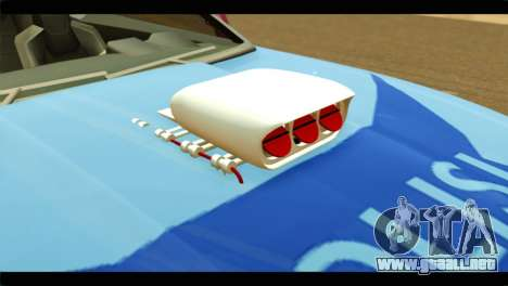 Chevrolet Camaro Indonesia Police para GTA San Andreas vista hacia atrás