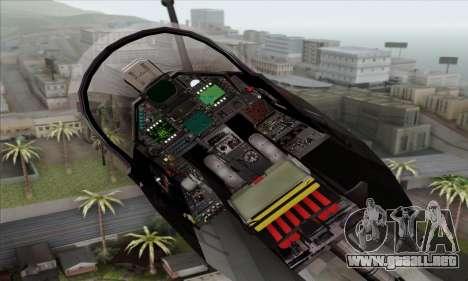 Dassault Mirage 2000-N SAM para GTA San Andreas vista hacia atrás