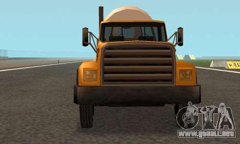 Cement Truck Fixed para visión interna GTA San Andreas