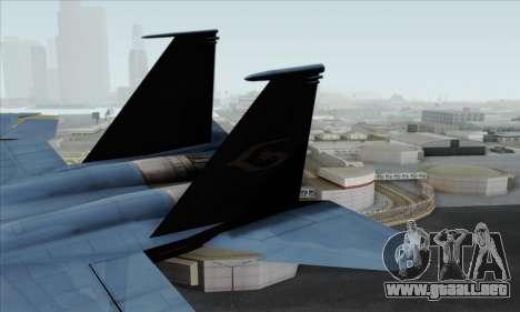 McDonnell Douglas F-15D Eagle GRDF para GTA San Andreas vista posterior izquierda