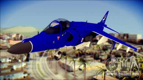 GR-9 Royal Navy Air Force para GTA San Andreas vista hacia atrás