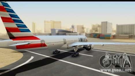 Boeing 777-200ER American Airlines para GTA San Andreas left