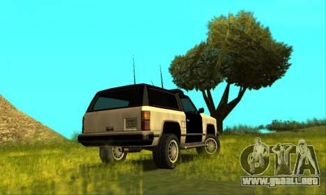 Beta Police Ranger para GTA San Andreas left