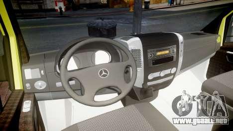 Mercedes-Benz Sprinter Ambulance [ELS] para GTA 4 vista hacia atrás