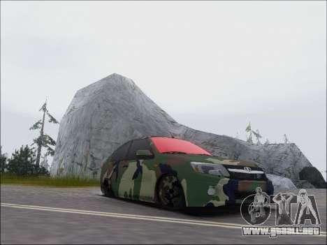 Lada Granta Liftback Coupe para GTA San Andreas vista hacia atrás