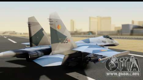SU-35BM Yuktobanian Air Force para GTA San Andreas left