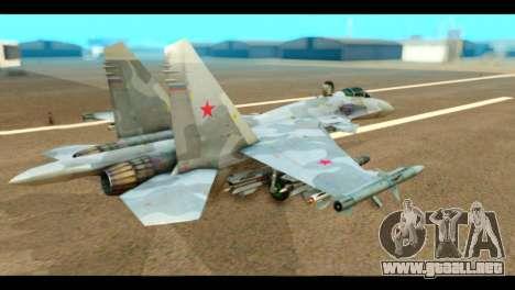 SU-37 Terminator Russian AF Camo para GTA San Andreas left