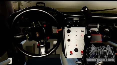 Porsche 911 GT3 RSR 2007 Flying Lizard para visión interna GTA San Andreas