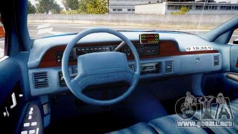 Chevrolet Caprice 1993 LCPD Without Hubcabs ELS para GTA 4 vista hacia atrás
