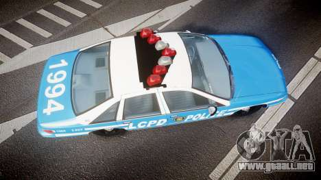 Chevrolet Caprice 1994 LCPD Patrol [ELS] para GTA 4 visión correcta
