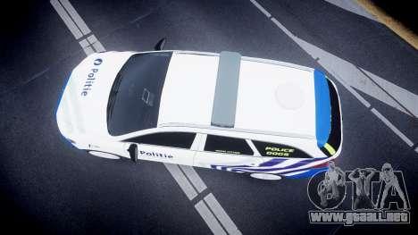 Ford Fusion Estate Belgian Police [ELS] Dog Unit para GTA 4 visión correcta
