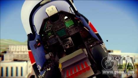 Dassault Mirage 2000-10 Black para GTA San Andreas vista hacia atrás