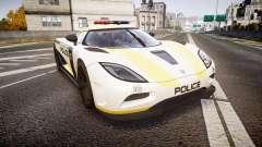 Koenigsegg Agera 2013 Police [EPM] v1.1 PJ1 para GTA 4