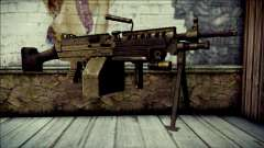 Gold M60 with Custom GTA 5 Icon para GTA San Andreas