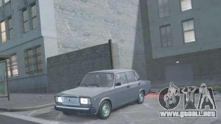 VAZ 2107 de Drenaje para GTA 4