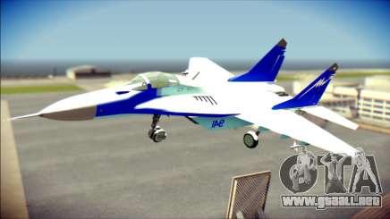Mikoyan-Gurevich MIG-29K para GTA San Andreas