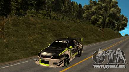 Mitsubishi Lancer Evolution IX Monster Energy DC para GTA San Andreas