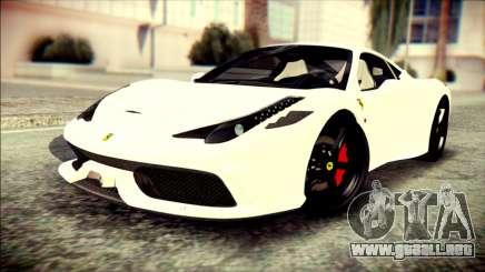 Ferrari 458 Speciale 2015 HQ para GTA San Andreas
