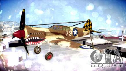 P-40E 325th Fighter Group para GTA San Andreas