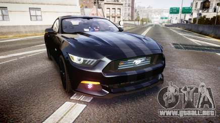 Ford Mustang GT 2015 FBI Unmarked [ELS] para GTA 4