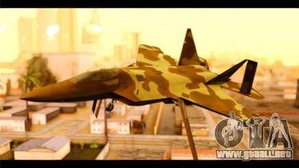 F-22 Raptor Desert Camouflage para GTA San Andreas