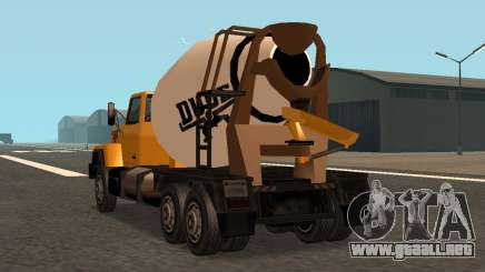 Cement Truck Fixed para GTA San Andreas